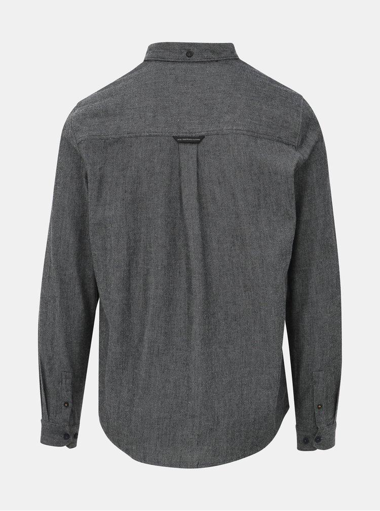 Šedá pánska košeľa Haily´s Check