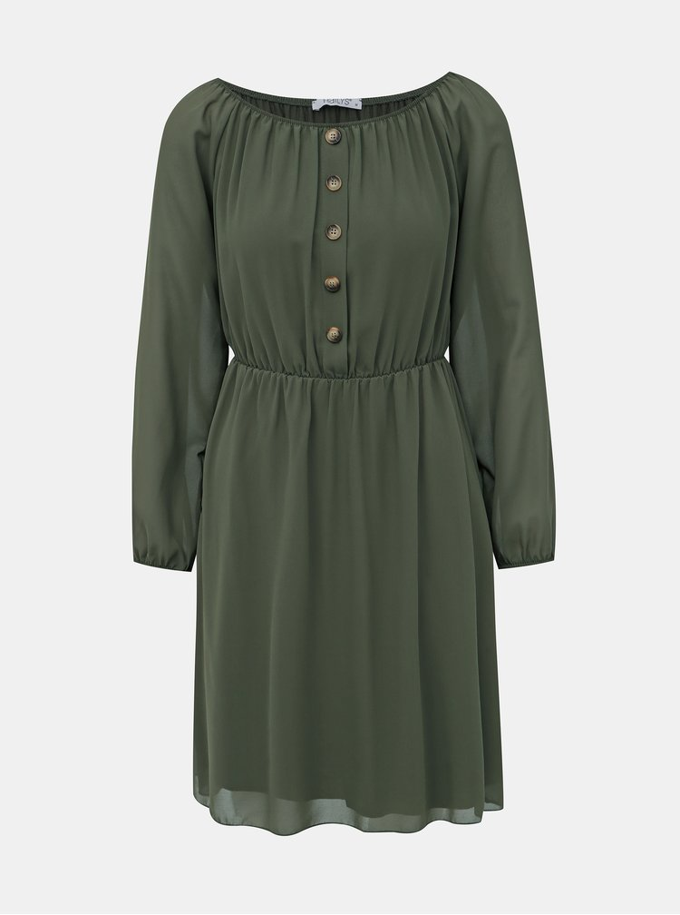 Khaki šaty Haily´s Alina