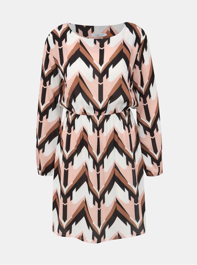 Růžové vzorované šaty Haily´s Eve