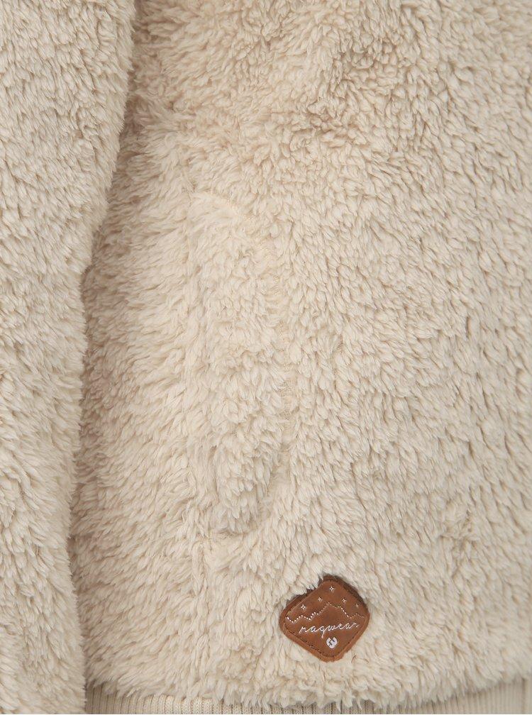 Béžová dámská mikina z umělé kožešiny Ragwear Vilma