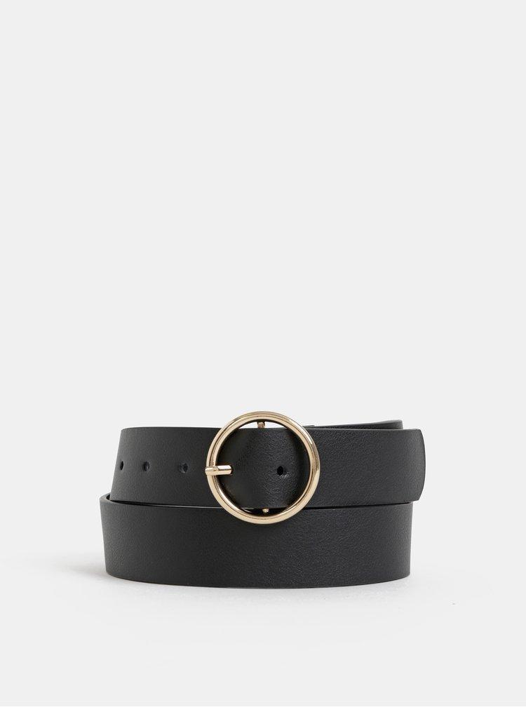 Černý kožený pásek Haily´s Livia