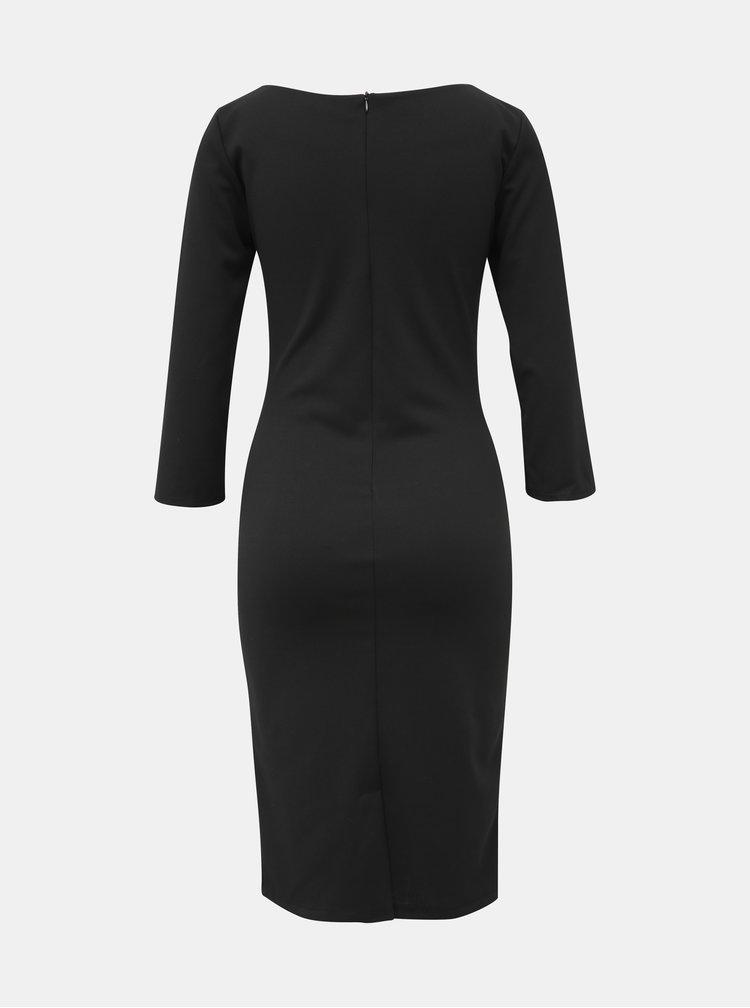 Čierne pouzdrové šaty Haily´s Lydia