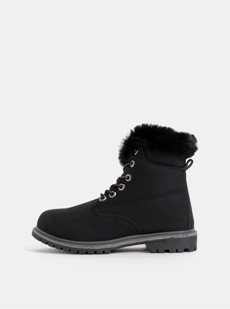 Černé dámské zimní kotníkové boty Haily´s Monty