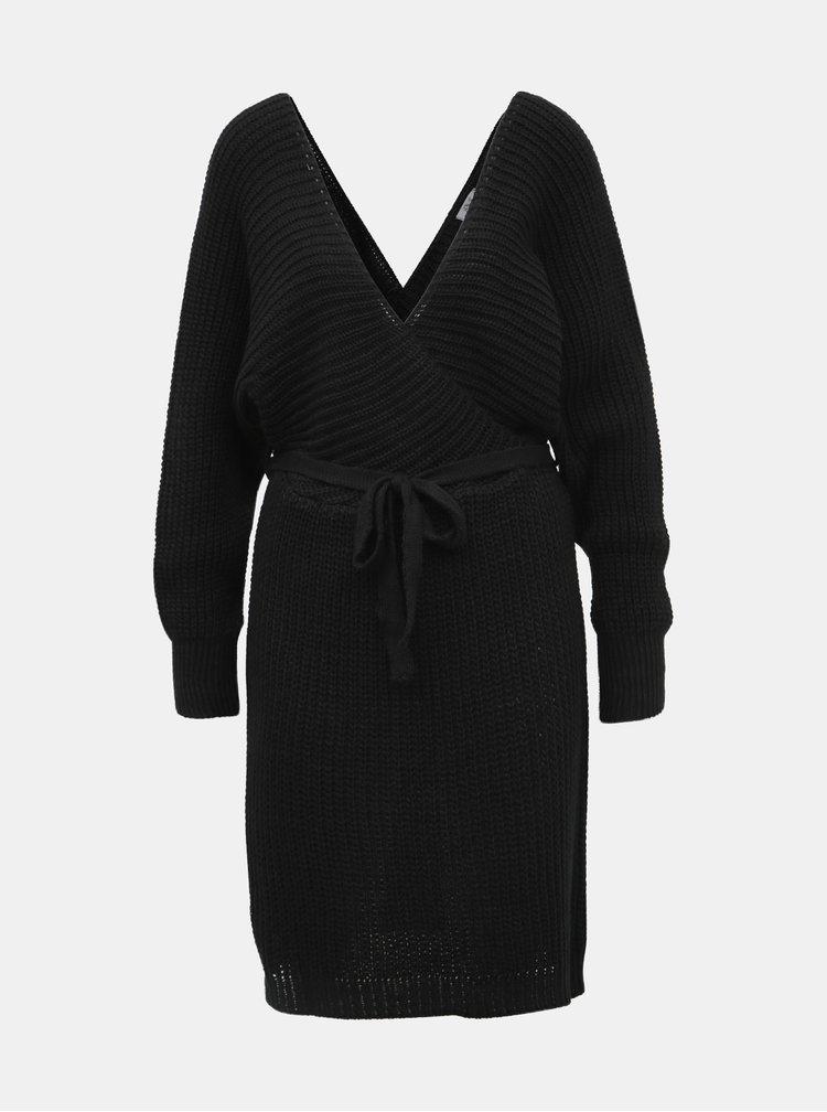 Černé svetrové šaty Haily´s Mely