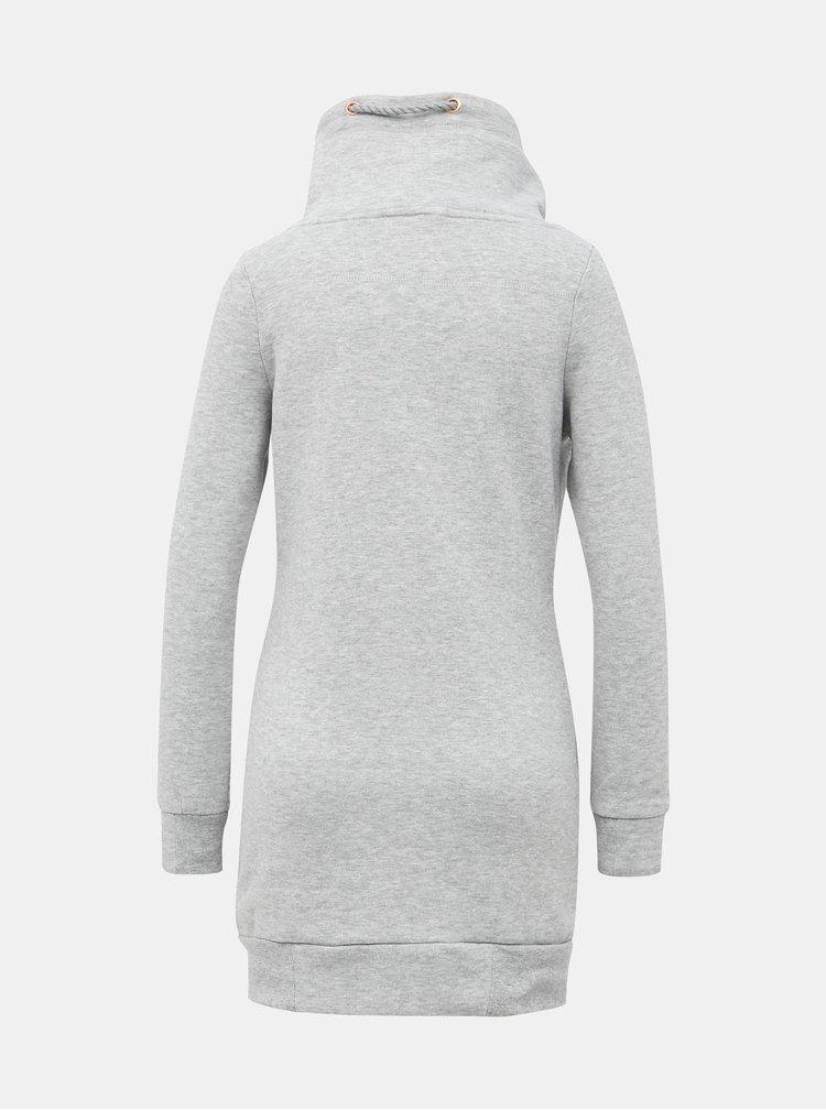 Svetlošedé mikinové šaty Haily´s Lilly