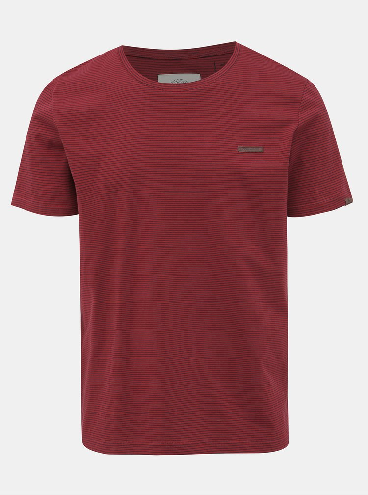 Vínové pánské pruhované basic tričko Ragwear Paul