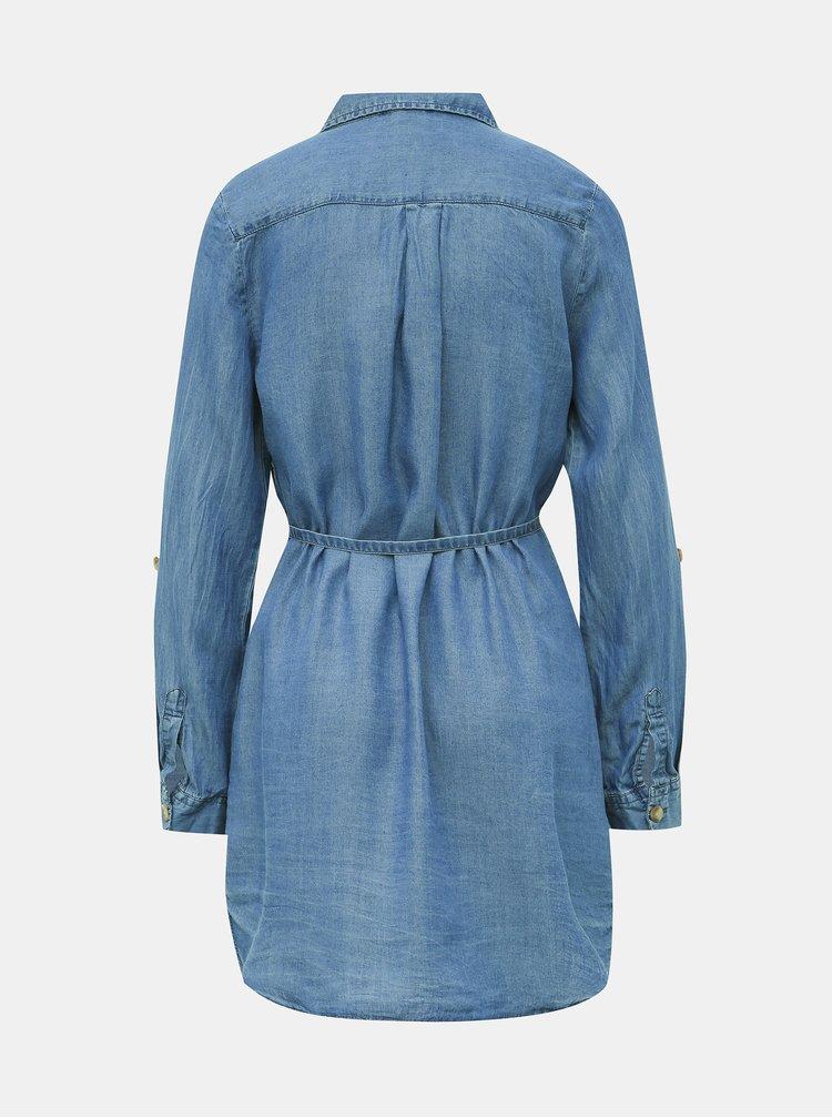 Modrá dámská dlouhá džínová košile Haily´s Manja