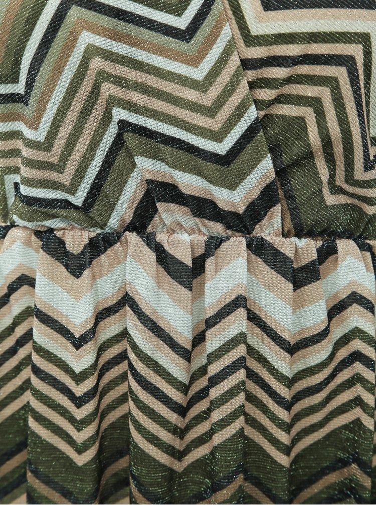 Kaki vzorované midi šaty Haily´s Maci