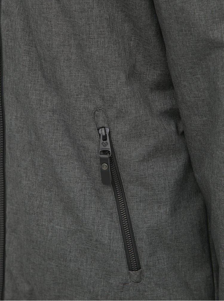Tmavošedá pánska zimná bunda Ragwear Wings