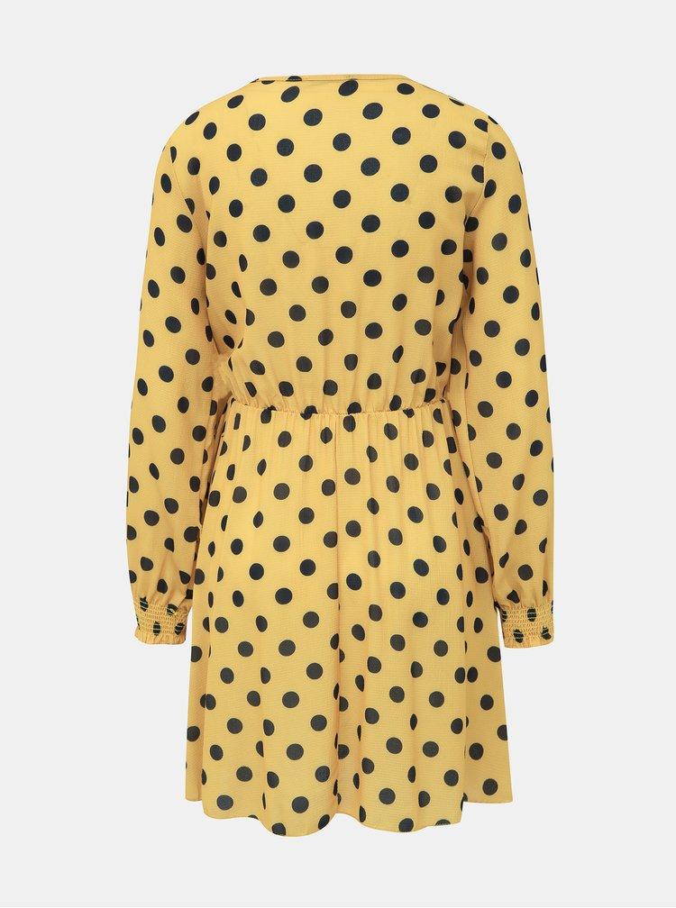 Hořčicové puntíkované šaty Haily´s Lena