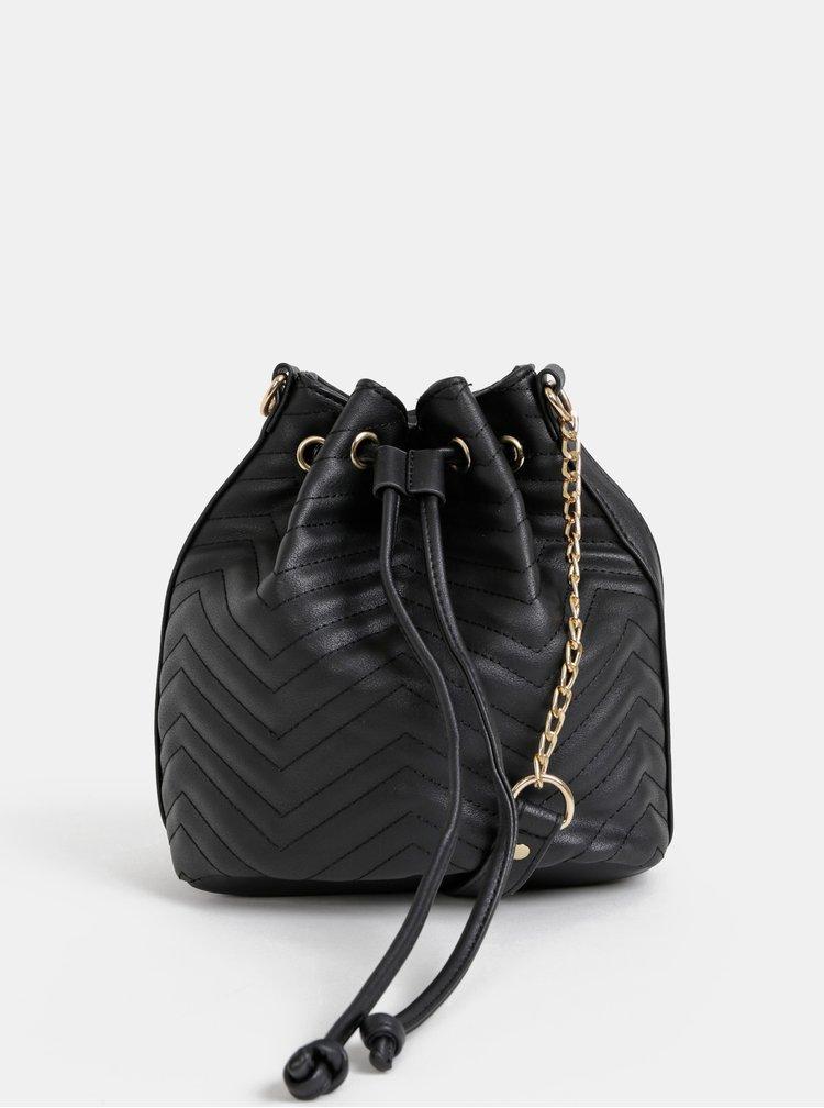 Černá vaková crossbody kabelka Haily´s Tina