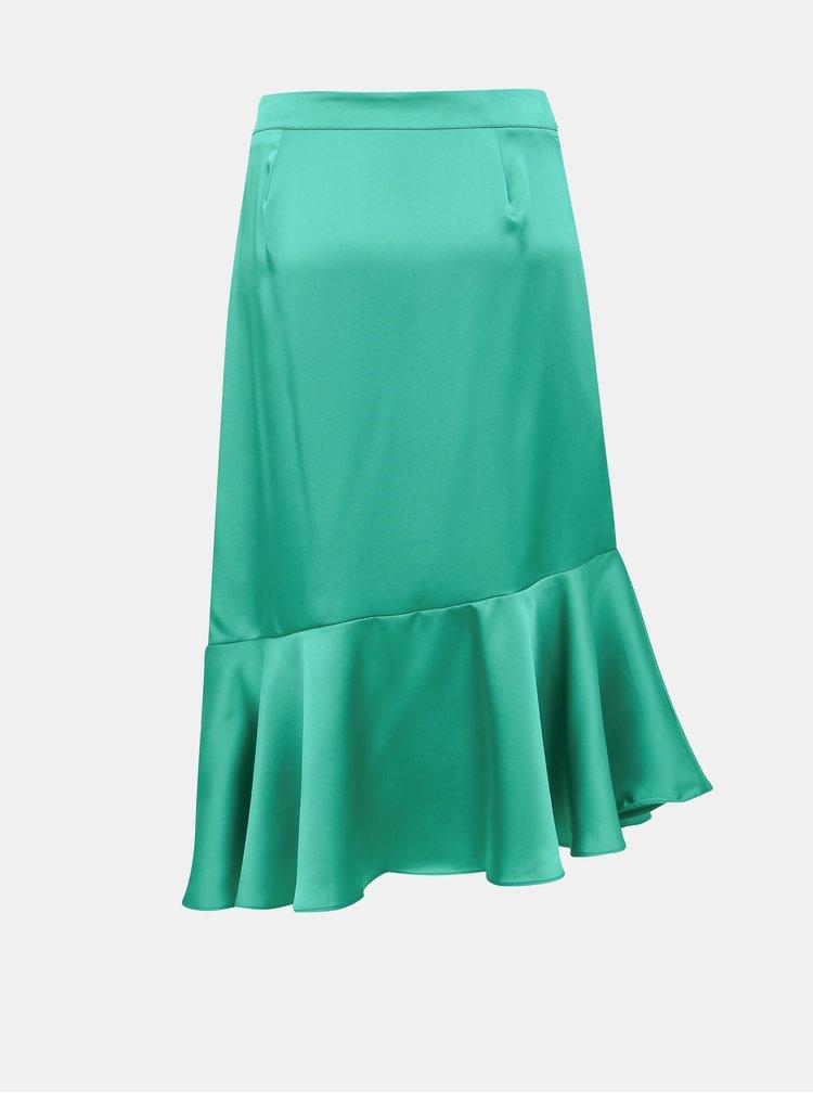 Zelená midi sukně VILA Shawa
