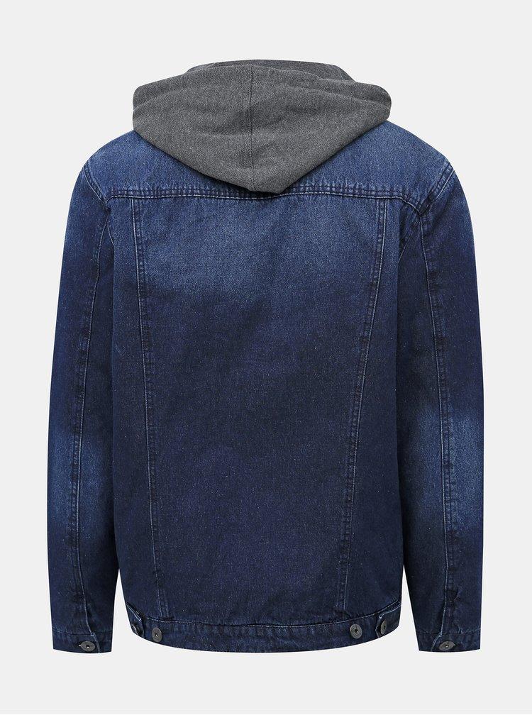 Tmavomodrá pánska zimná rifľová bunda Haily´s Finn