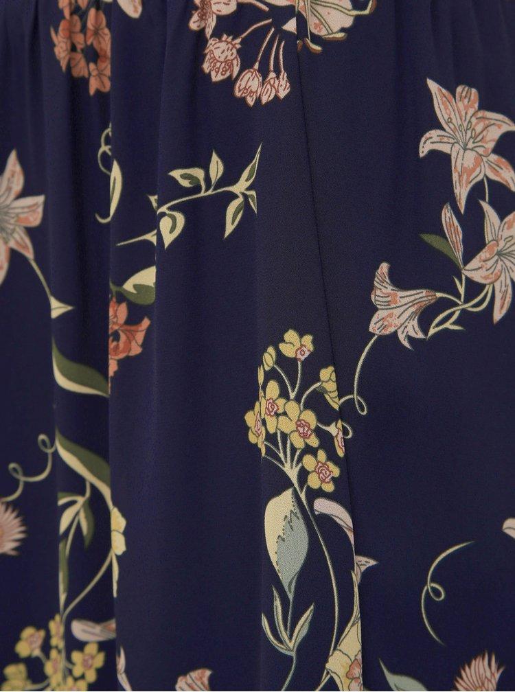 Tmavomodrá kvetovaná sukňa Jacqueline de Yong Jade