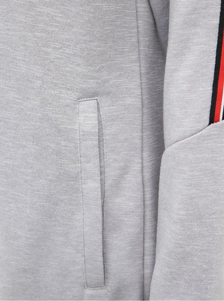 Světle šedé mikinové šaty SAM 73