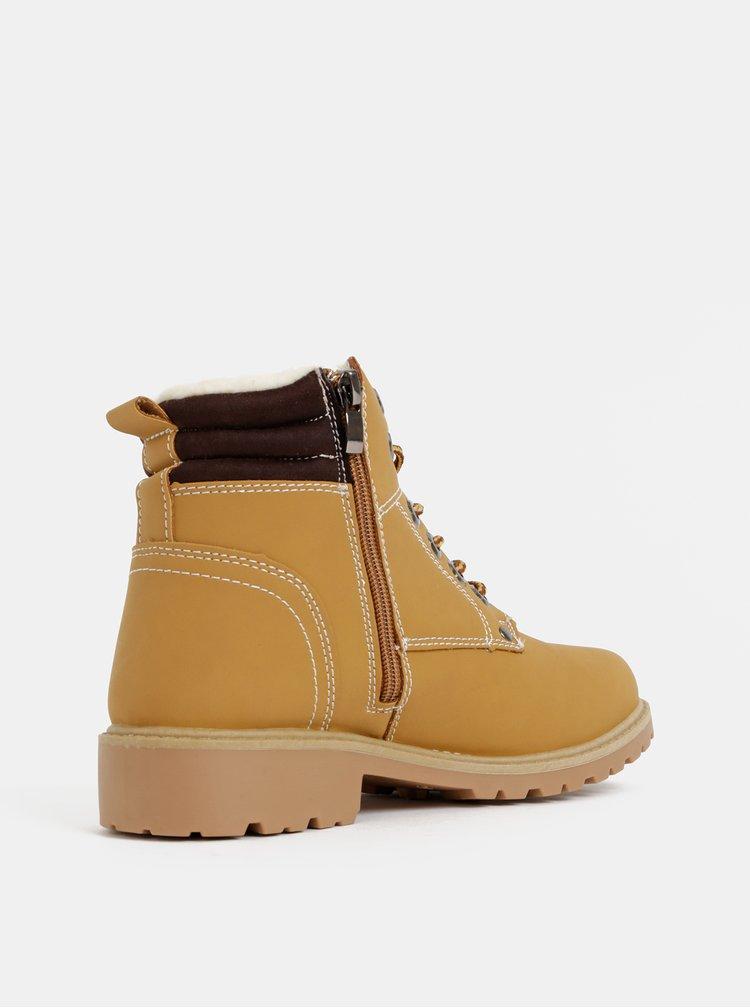 Svetlohnedé dámske zimné členkové topánky Haily´s Pia