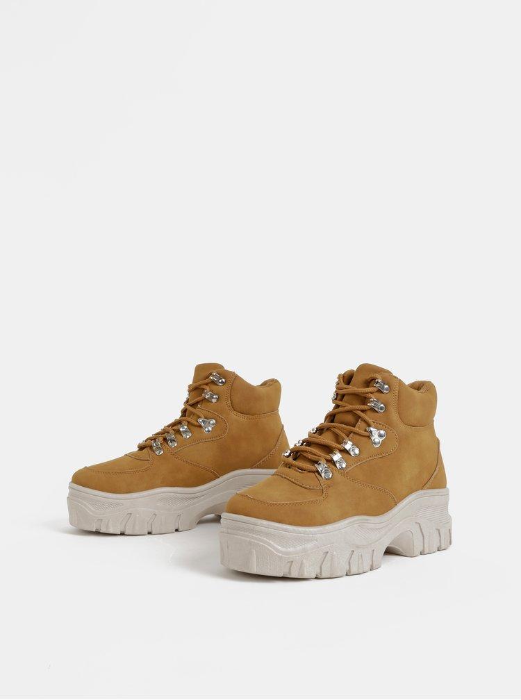 Hnědé dámské zimní kotníkové boty Haily´s Hazel
