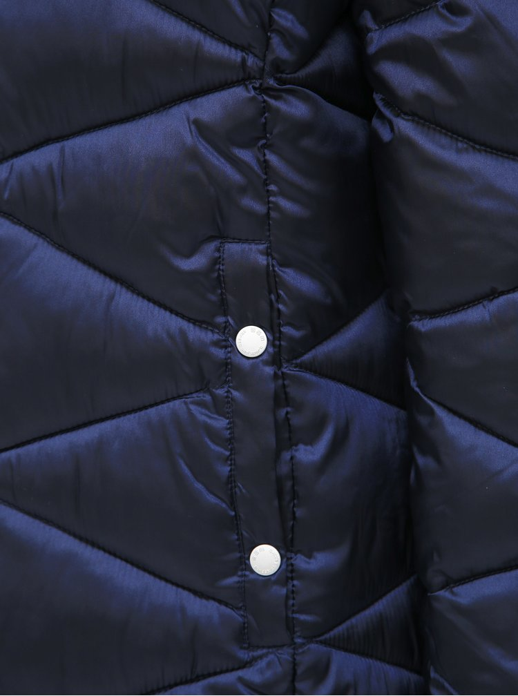 Tmavě modrá dámská prošívaná bunda SAM 73