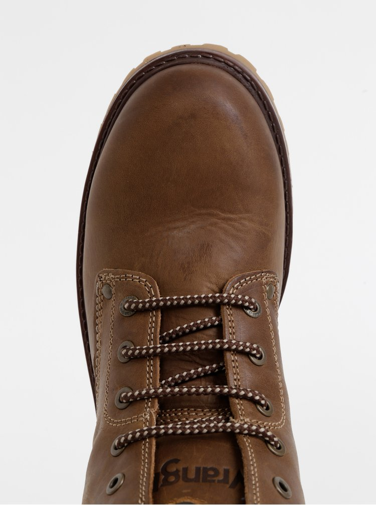 Hnědé pánské kožené kotníkové boty Wrangler