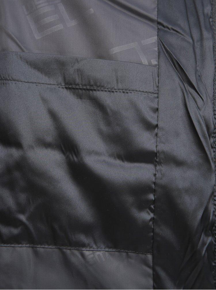 Tmavošedá dámska prešívaná vesta SAM 73