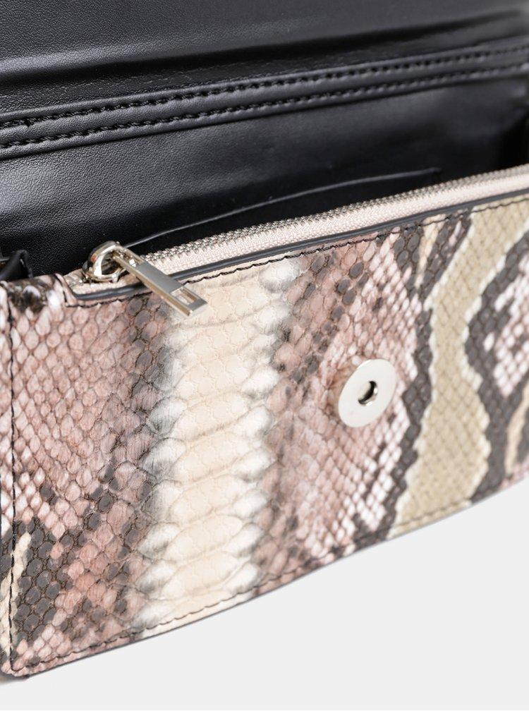 Béžové psaníčko s hadím vzorem Haily´s Soni