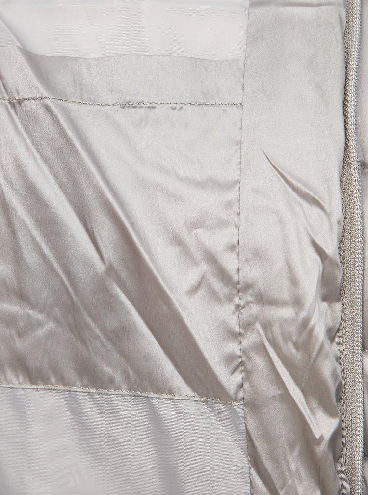 Šedá dámská metalická prošívaná vesta SAM 73