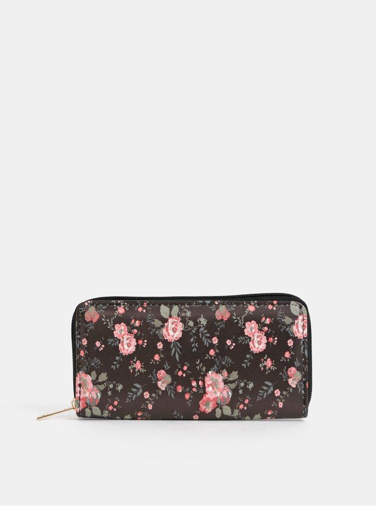 Černá dámská květovaná peněženka Haily´s Ciara