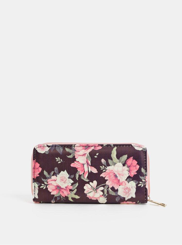 Tmavě modrá dámská květovaná peněženka Haily´s Ciara