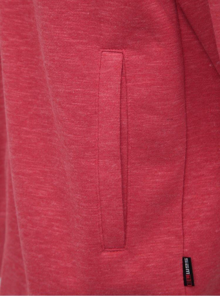 Šedo-červená pánska mikina SAM 73