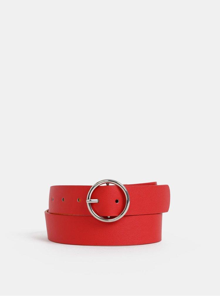 Červený kožený pásek Haily´s Ludmilla