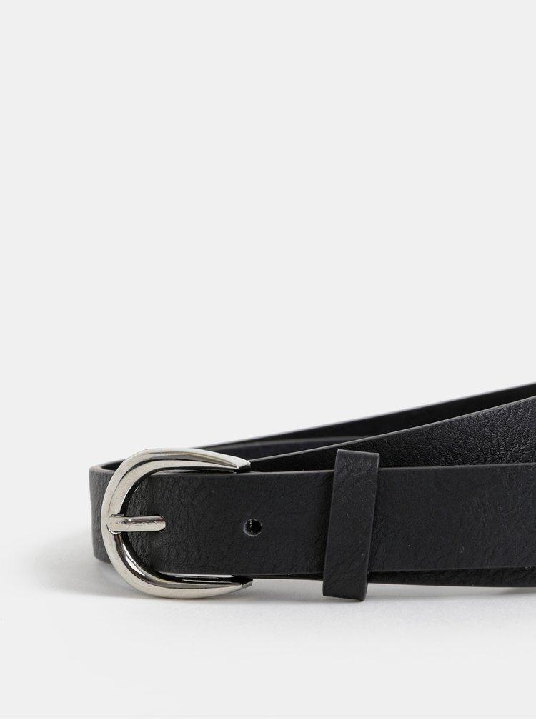 Čierny kožený opasok Haily´s Jessica
