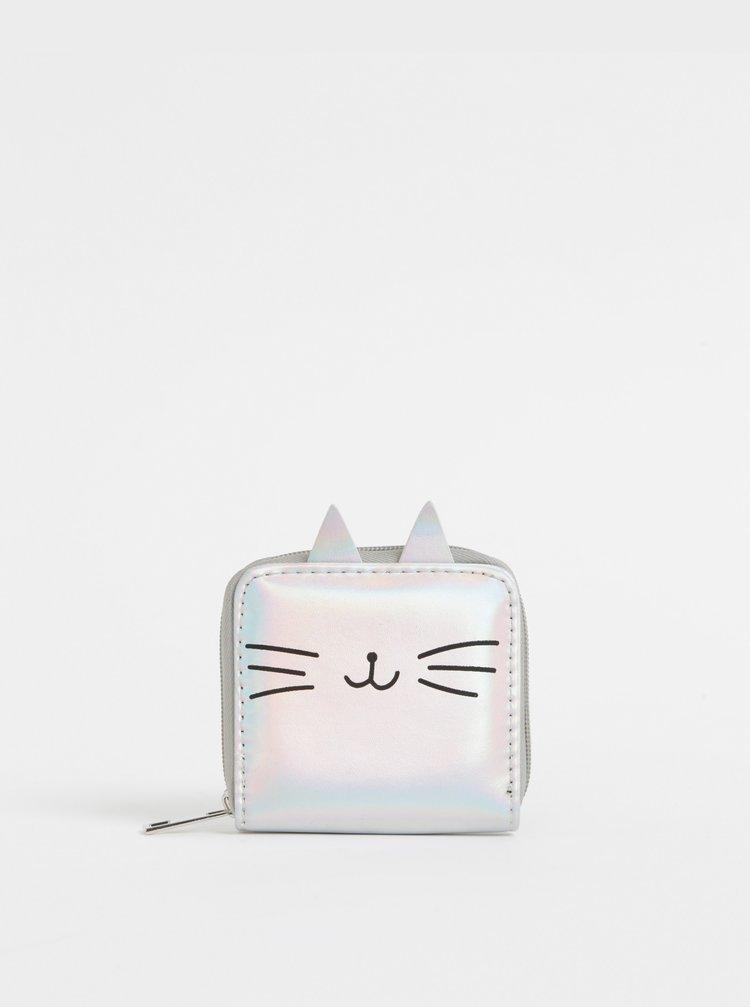 Dámska peňaženka ve striebornej farbe Haily´s Kitty