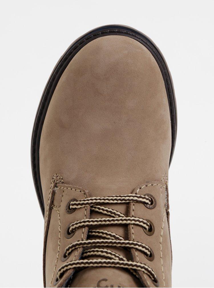 Béžové dámske semišové členkové topánky Wrangler