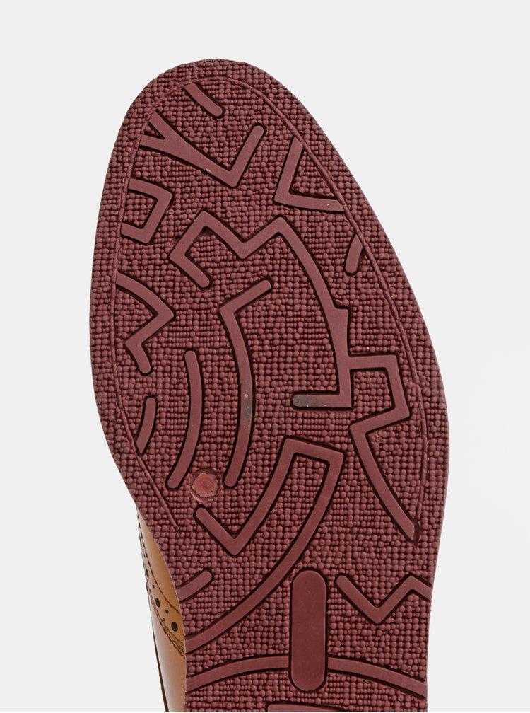 Hnedé pánske kožené polobotky Dice Archer