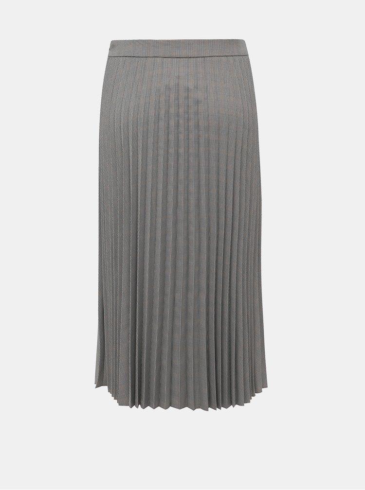 Šedá vzorovaná plisovaná sukňa VERO MODA Eleanor