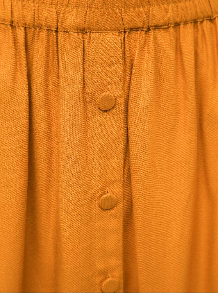 Oranžová sukňa VILA Monnie