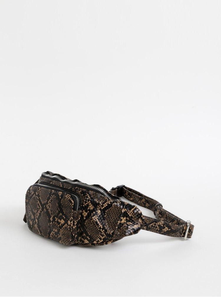 Hnedá ľadvinka s hadím vzorom Pieces Ille