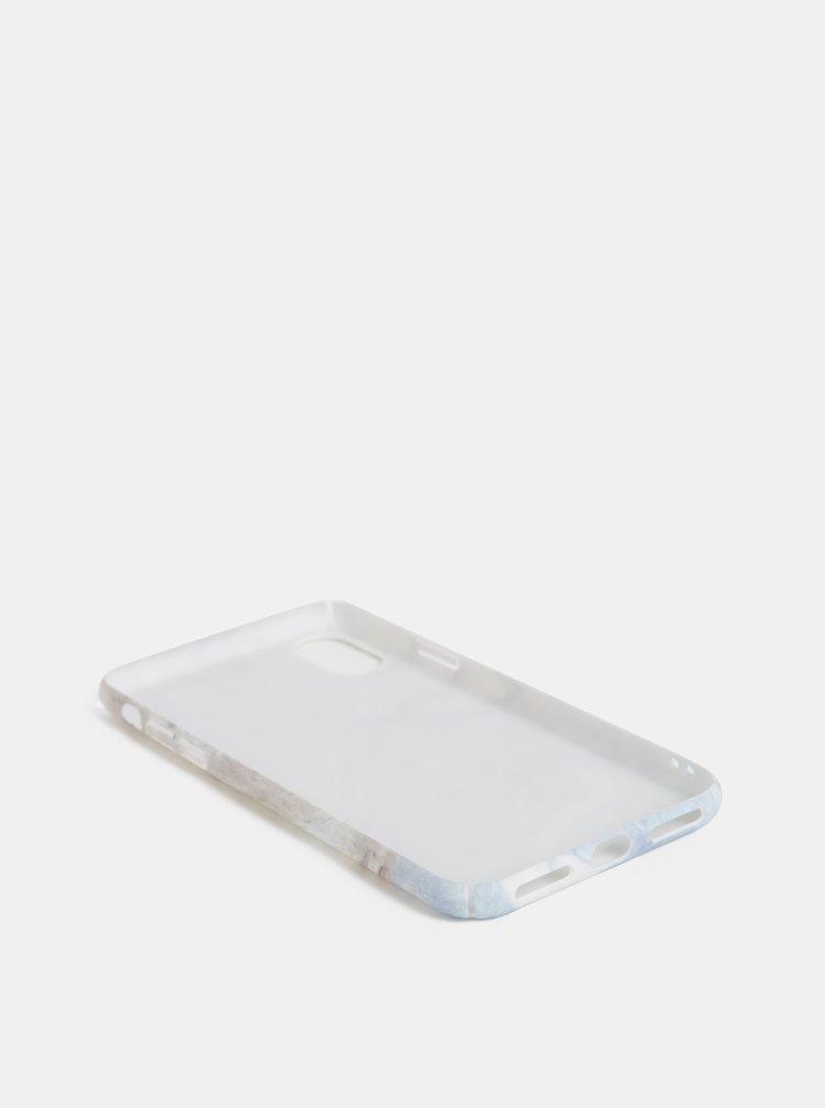 Modro-šedý vzorovaný obal na iPhone X/XS VERO MODA Desk
