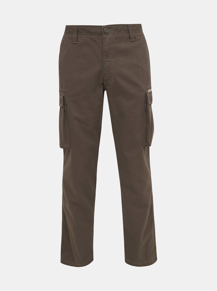 Hnědé pánské kalhoty s kapsami BUSHMAN Lincoln