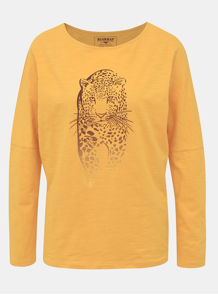 Žluté dámské tričko BUSHMAN Totowa