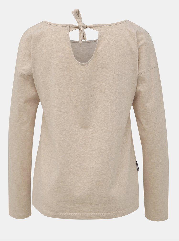 Béžové dámské tričko BUSHMAN Mangolia