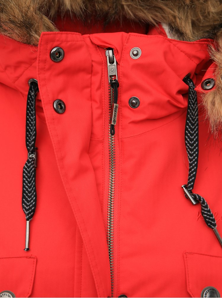 Červená dámská funkční zimní parka Meatfly Ruby