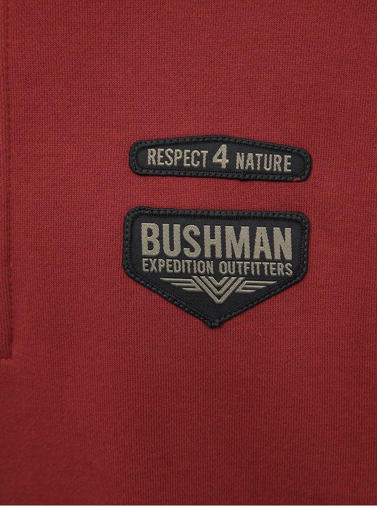 Červená pánska mikina BUSHMAN Thomson