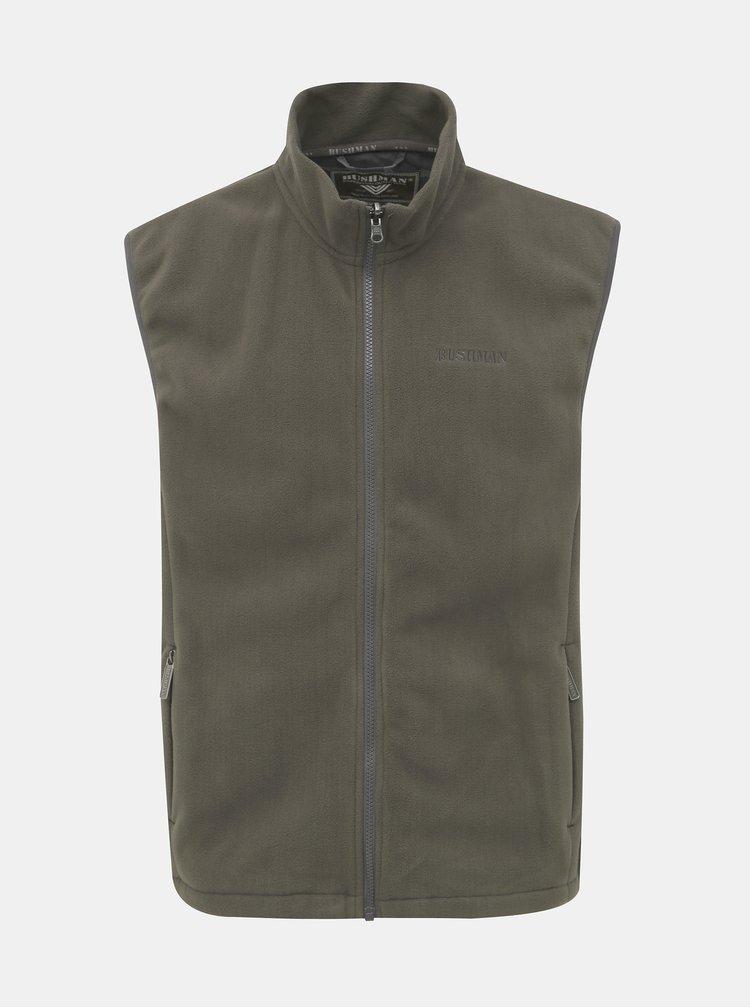 Khaki pánská zimní bunda s odnímatelnou vestou 2v1 BUSHMAN Wolf