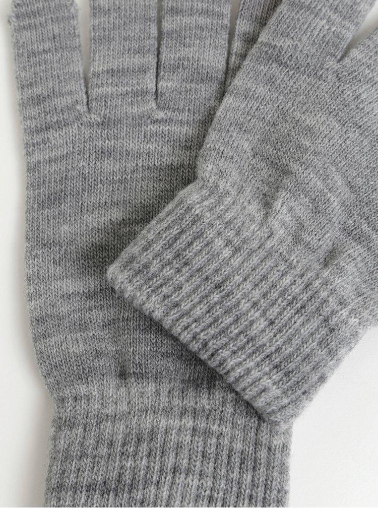 Světle šedé rukavice Pieces New