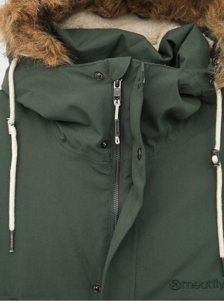 Tmavozelená pánska funkčná zimná bunda Meatfly Rodney