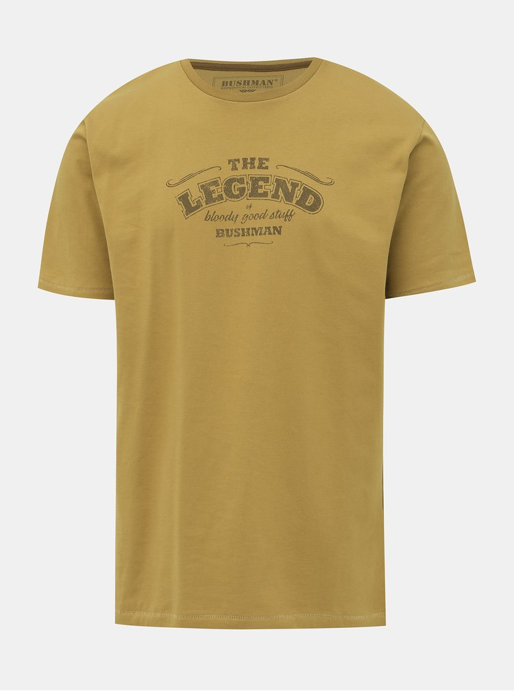 Žlté pánske tričko BUSHMAN Union