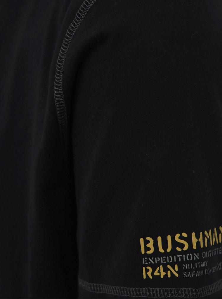 Čierne pánske tričko BUSHMAN Oramsy