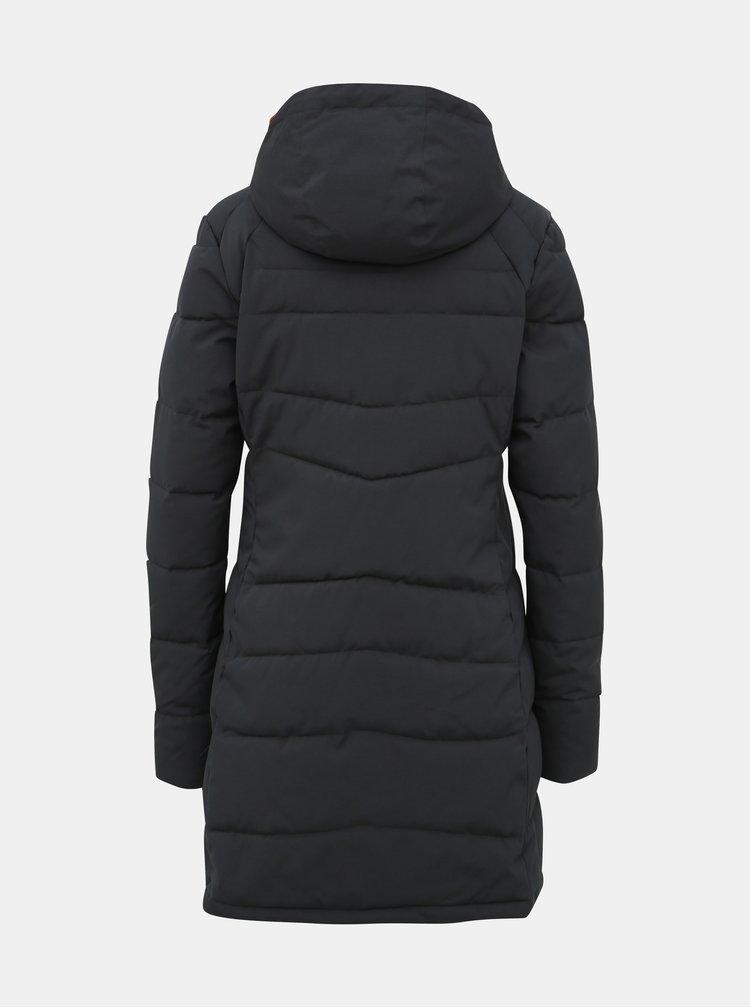 Tmavomodrý dámsky funkčný prešívaný zimný kabát Meatfly Olympa