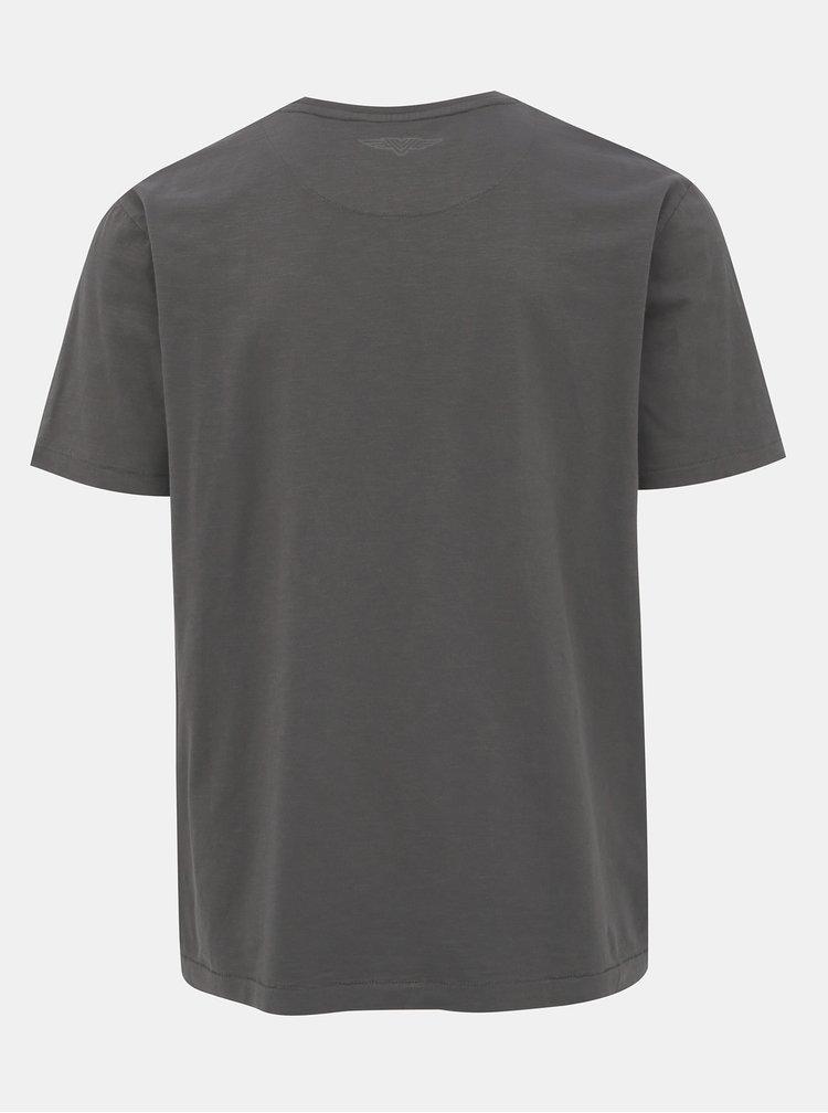 Tmavošedé pánske tričko BUSHMAN Lisbon
